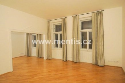 Luxurious partly furnished 2-bedroom apartment, 100m2, Prague 2 Nové Město Odborů street.